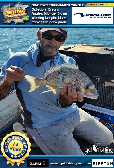 Bream 38cm Michael Brown Pro Lure Australia $100 prize pack