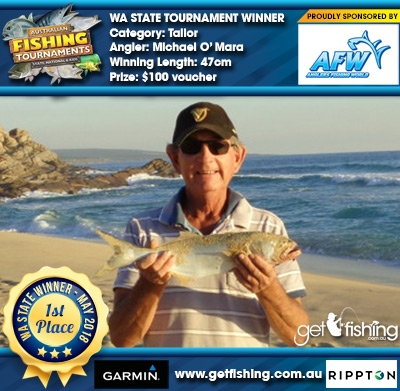 Tailor 47cm Michael O' Mara Anglers Fishing World $100 voucher