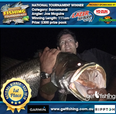 Barramundi 111cm Joe Mcguire Eagle Claw/Yo-Zuri $300 prize pack