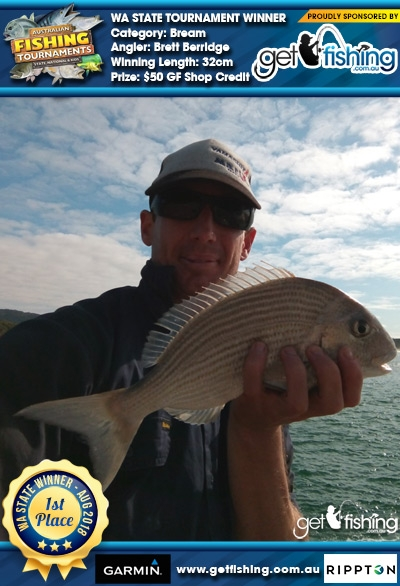 Bream 32cm Brett Berridge Get Fishing $50 GF Shop Credit