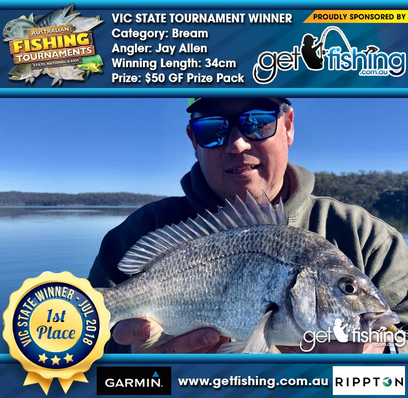 Bream 34cm Jay Allen Get Fishing $50 GF Prize Pack