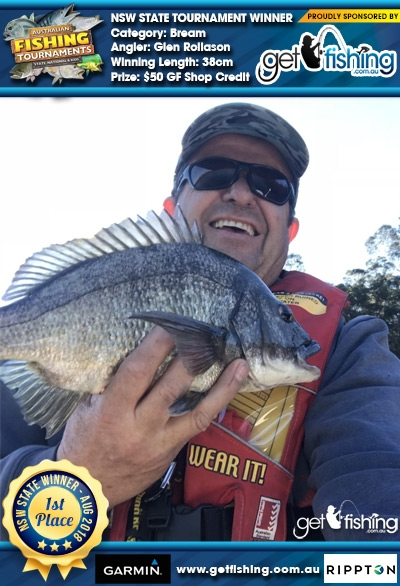 Bream 38cm Glen Rollason Get Fishing $50 GF Shop Credit