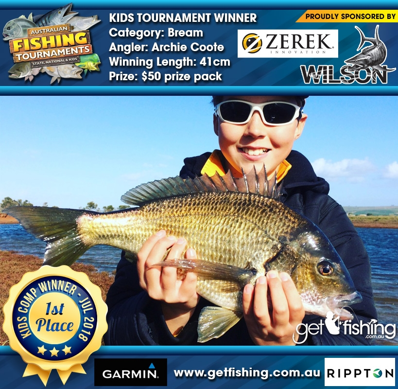 Bream 41cm Archie Coote Get Fishing $20 GF T-Shirt
