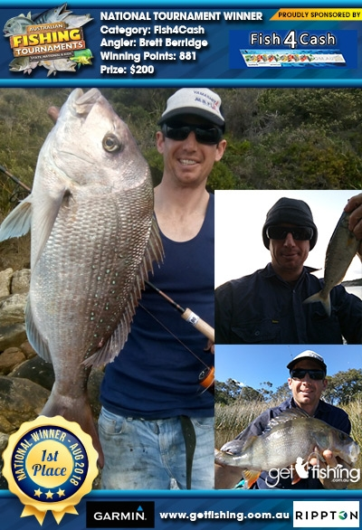 Snapper 60cm Brett Berridge Fish4Cash Fish4Cash