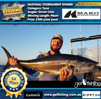 Tuna 96cm David Cole Mako Eyewear $300 prize pack