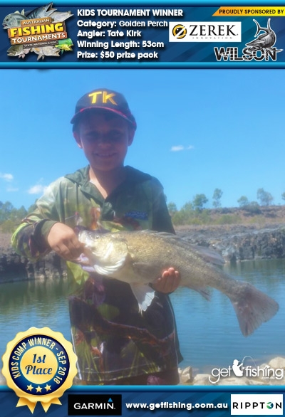 Golden Perch 53cm Tate Kirk Wilson & Zerek $50 prize pack