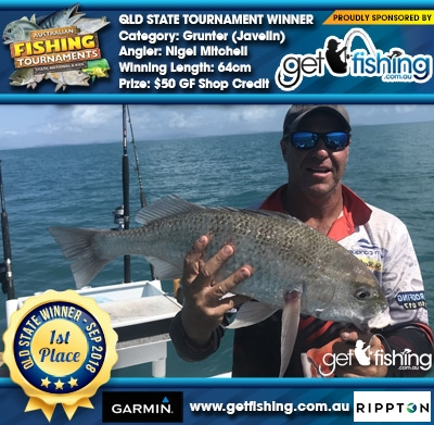 Grunter (Javelin) 64cm Nigel Mitchell Get Fishing $50 GF Shop Credit
