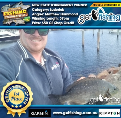 Luderick 37cm Matthew Hammond Get Fishing $50 GF Shop Credit