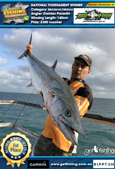 Mackerel/Wahoo 140cm Damian Paranihi Bigfish Graphics $300 voucher