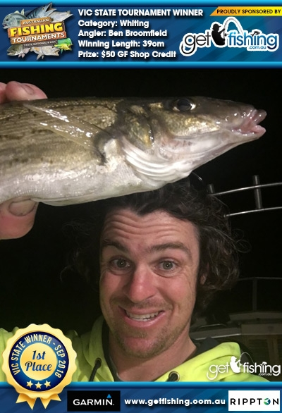 Whiting 39cm Ben Broomfield Get Fishing $50 GF Shop Credit