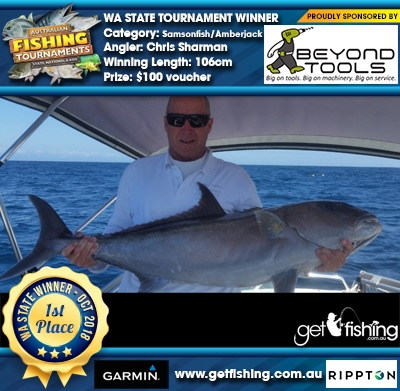 Samsonfish/Amberjack 106cm Chris Sharman Beyond Tools $100 voucher