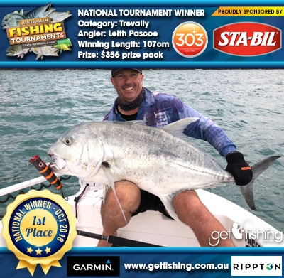 Trevally 107cm Leith Pascoe STA-BIL Marine and 303 Protectants and Cleaners $356 prize pack