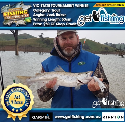 Trout 53cm Jock Baker Get Fishing $50 GF Shop Credit