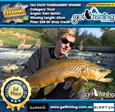 Trout 62cm Sam Spinks Get Fishing $50 GF Shop Credit
