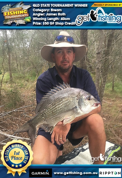 Bream 40cm James Roth Get Fishing $50 GF Shop Credit
