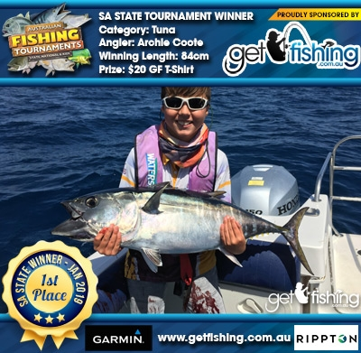 Tuna 84cm Archie Coote Get Fishing $20 GF T-Shirt