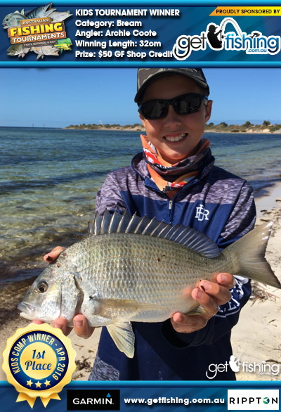 Bream 32cm Archie Coote Get Fishing $50 GF Shop Credit