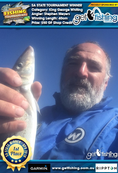 King George Whiting 40cm Stephen Meyers Get Fishing $50 GF Shop Credit