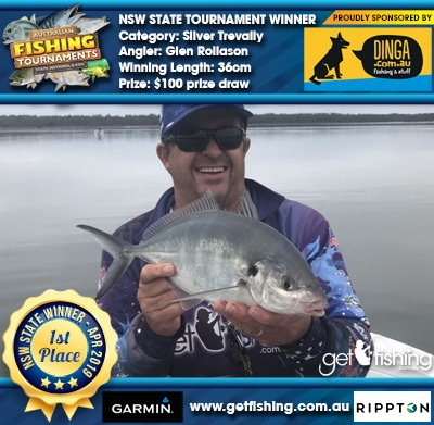 Silver Trevally 36cm Glen Rollason Dinga Fishing $100 prize draw