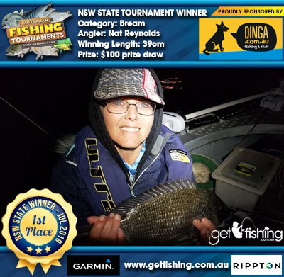 Bream 39cm Nat Reynolds Dinga Fishing $100 prize draw