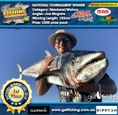 Mackerel/Wahoo 153cm Joe Mcguire Eagle Claw/Yo-Zuri $300 prize pack