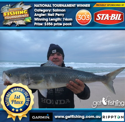 Salmon 74cm Neil Perry STA-BIL Marine and 303 Protectants and Cleaners $356 prize pack