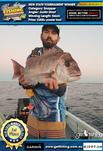 Snapper 54cm Justin Stayt Fish4Cash Fish4Cash
