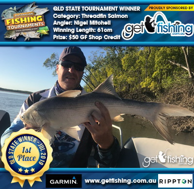 Threadfin Salmon 61cm Nigel Mitchell Get Fishing $50 GF Shop Credit